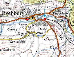 map of rothbury disused stations rothbury station