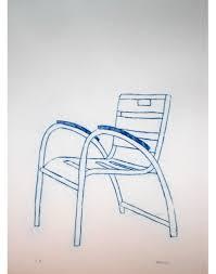 chaise bleue gravure chaise bleue de sur la promenade des anglais