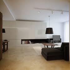 living room brown tile marble floor white porselain wall