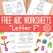 f worksheets free kids printable