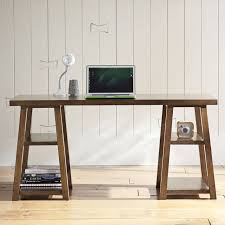 Diy Simple Wood Desk by Customize It Simple Trestle Desk Pbteen