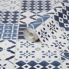 a s creation chatsworth blue u0026 white mosaic tile wallpaper