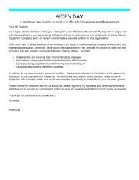 sample resume cover letter marketing director