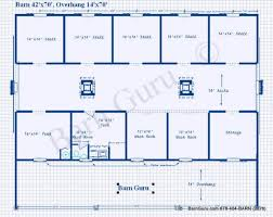 Barn Designs For Horses 5 Stall Horse Barn Plans