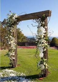 easy diy wooden white flowers arch for 2014 wedding wooden arch
