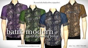 desain baju batik pria 2014 toko batik online jogja kemeja batik kombinasi seragam batik