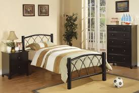 Metal Frame Headboards by Black Metal Bed Frame With Headboard And Four Legs Next To Black