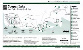 Unt Parking Map Cooper Lake State Park Doctor U0027s Creek Unit The Portal To Texas