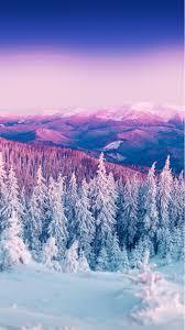 purple winter mountain landscape iphone 6 wallpaper http
