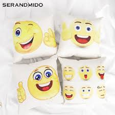 aliexpress com buy cute creative smile emoji cushion covers