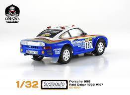 porsche 959 rally car scaleauto sc6091 porsche 959 dakar raid