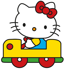 hello kitty in a car wall stickers totally movable hello kitty car jpg