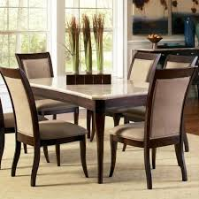 M S Dining Tables Steve Silver Marseille Transitional Rectangular Marble Top Dining