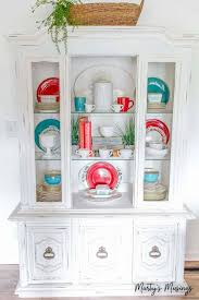 Decorating A Hutch 3 Easy And Cheap Summer Decorating Ideas The Happier Homemaker