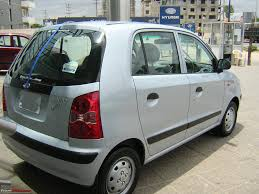 took delivery hyundai santro xing at space silver team bhp
