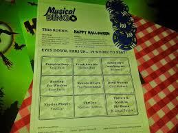 rock and roll halloween bingo nutella tasha