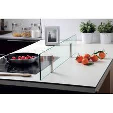 aimant cuisine kit separateur ilot en verre et supports par aimant cuisine