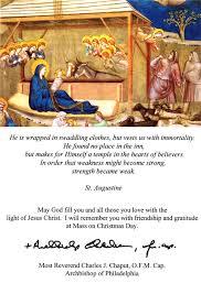 catholic christmas cards archbishop charles chaput s christmas card to the faithful
