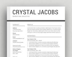 Resume Templates For Word Mac Resume Template Mac Etsy