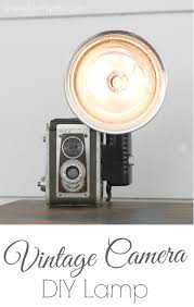 how to turn a vintage camera into a lamp lovely etc