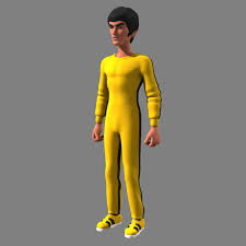 bruce yellow jumpsuit bruce yellow 3d model