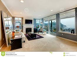 Large Living Room Furniture Large Open Bight Living Room With Fireplace Tv And Modern