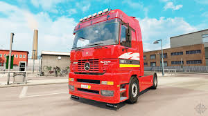 mercedes benz actros mp4 red mercedes benz actros mp1 v2 5 for euro truck simulator 2