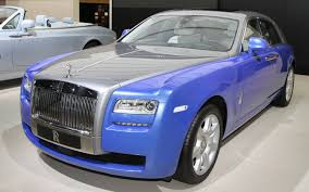 roll royce blue paris 2012 rolls royce unveils artsy phantom ghost models with