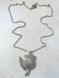 scottish thistle flower pendant and necklace