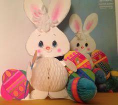 Easter Bunny Decorations Ebay vintage hallmark fuzzy flocked easter diecut decoration book bunny