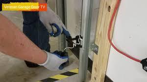 garage door sensor wire garage door sensor adjustment diy veteran garage door youtube