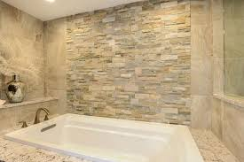 Accent Wall In Bathroom Decorations Rectangle Small White Drop In Bathtub With Natural