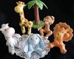safari animals cake topper baby animal baby shower jungle