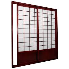 Room Devider by Oriental Furniture Shoji Double Sided Sliding Door Kit Room