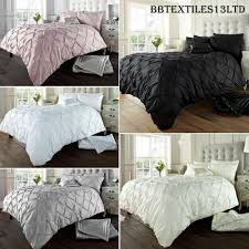 details about diamond pintuck duvet cover set with pillow cases