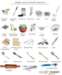 kitchen good looking kitchen utensils list with pictures and