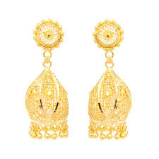 gold erring earrings sunflower design gold earring grt jewellers