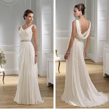 grecian style wedding dresses ancient style wedding dress the draping at the back