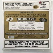pioneer album refills pioneer white scrapbooking albums refills ebay