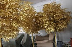 factory manufacture 2m gold artificial banyan tree for hotel