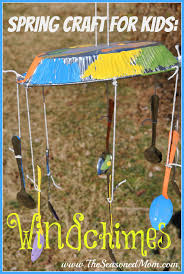 spring craft for kids windchimes the seasoned mom