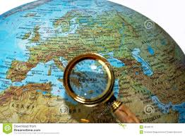 Greece On Map Greece On Russian Globe Stock Photo Image 49106770