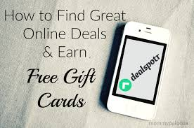 earn gift cards how to find great online deals and earn free gift cards mommypalooza
