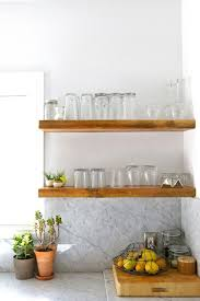 Open Kitchen Shelf Ideas Cabinets U0026 Drawer Natural Finishes Wood Open Shelving Cabinets