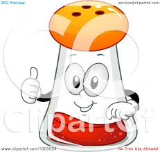 clipart of a cartoon paprika spice shaker character holding a