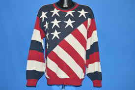 Flag Sweater 90s Bill Blass American Flag Stars And Stripes Sweater Large The