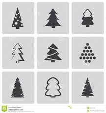 vector black christmas tree icons set stock images image 36263464