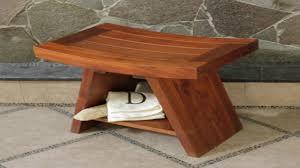 image of steamist shower seat sbs101 image is loading teak size 1280x720 teak shower bench with shelf small teak shower bench
