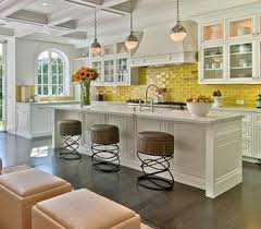 Yellow Glass Subway Tile Subway Tiles Stools And Kitchen Backsplash - Colorful backsplash tiles
