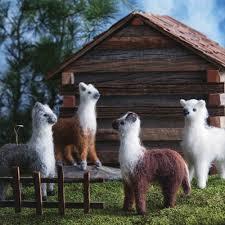 4 pc alpaca wool tree ornaments nova68